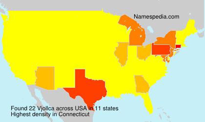 Surname Vjollca in USA