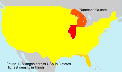 Surname Vlangos in USA
