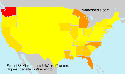Surname Vlas in USA