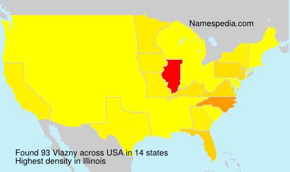Familiennamen Vlazny - USA