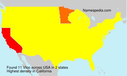 Familiennamen Vloo - USA