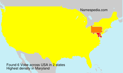 Surname Vobe in USA