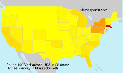 Familiennamen Voci - USA