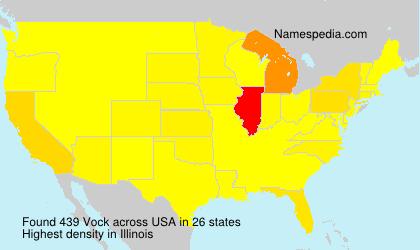 Surname Vock in USA