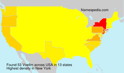 Surname Voellm in USA