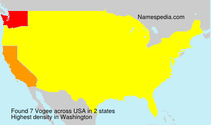 Surname Vogee in USA