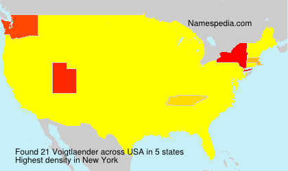 Surname Voigtlaender in USA