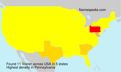 Surname Voiner in USA
