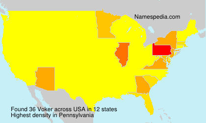Surname Voker in USA