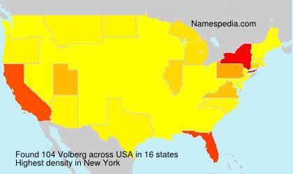 Surname Volberg in USA