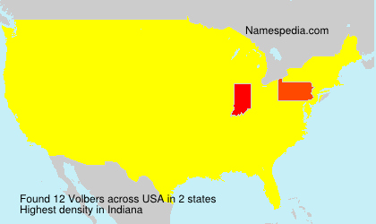 Surname Volbers in USA