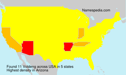 Surname Voldeng in USA