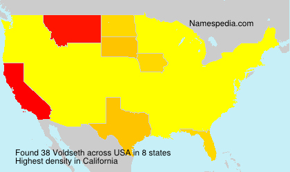 Surname Voldseth in USA