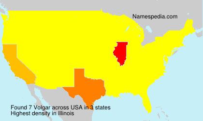 Surname Volgar in USA