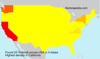 Surname Vollandt in USA