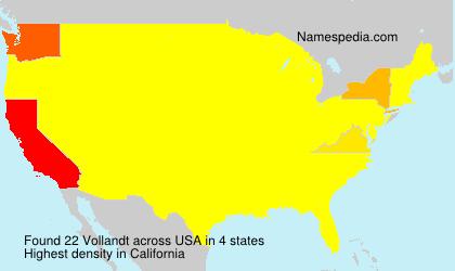 Surname Vollandt in USA