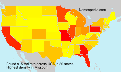 Surname Vollrath in USA
