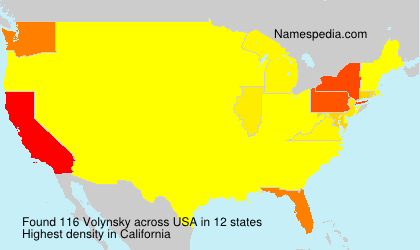 Familiennamen Volynsky - USA