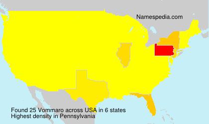 Surname Vommaro in USA