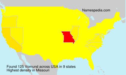 Surname Vomund in USA
