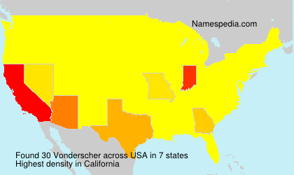 Surname Vonderscher in USA
