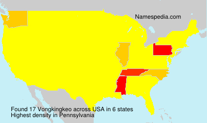 Surname Vongkingkeo in USA