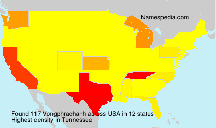 Surname Vongphrachanh in USA