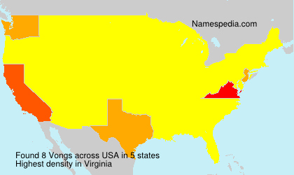 Surname Vongs in USA