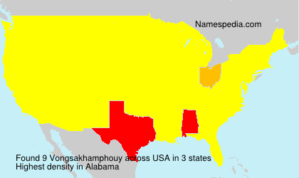 Surname Vongsakhamphouy in USA