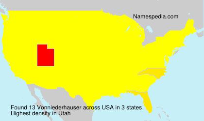 Surname Vonniederhauser in USA
