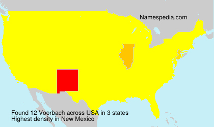 Surname Voorbach in USA