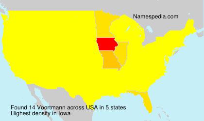 Surname Voortmann in USA