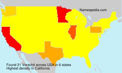 Surname Vorachit in USA
