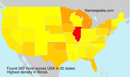 Surname Vorel in USA