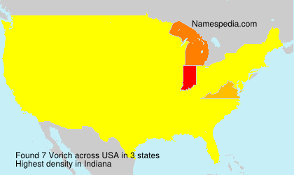 Surname Vorich in USA