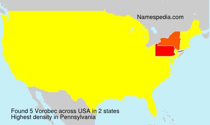 Familiennamen Vorobec - USA