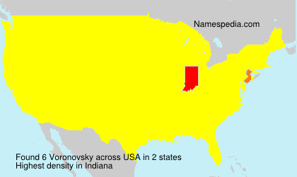 Surname Voronovsky in USA