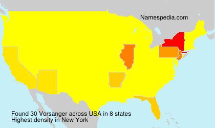 Surname Vorsanger in USA