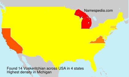 Familiennamen Voskeritchian - USA