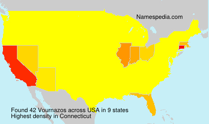 Surname Vournazos in USA