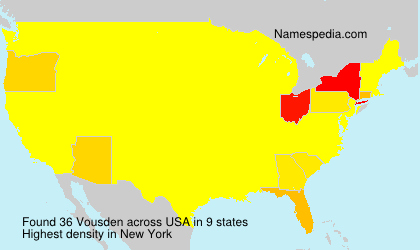 Surname Vousden in USA
