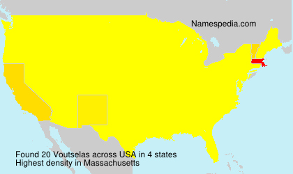 Surname Voutselas in USA