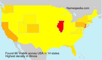 Surname Vrablik in USA