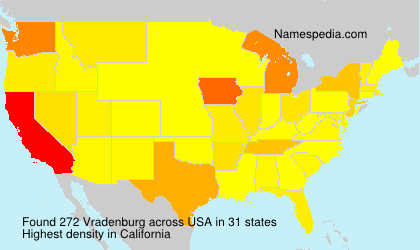 Surname Vradenburg in USA