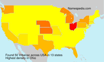 Surname Vrbanac in USA
