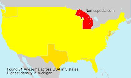 Surname Vriezema in USA