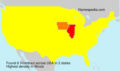 Surname Vrombaut in USA