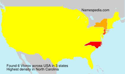Surname Vtorov in USA