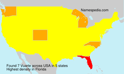 Surname Vuarte in USA