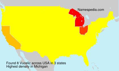 Surname Vucelic in USA